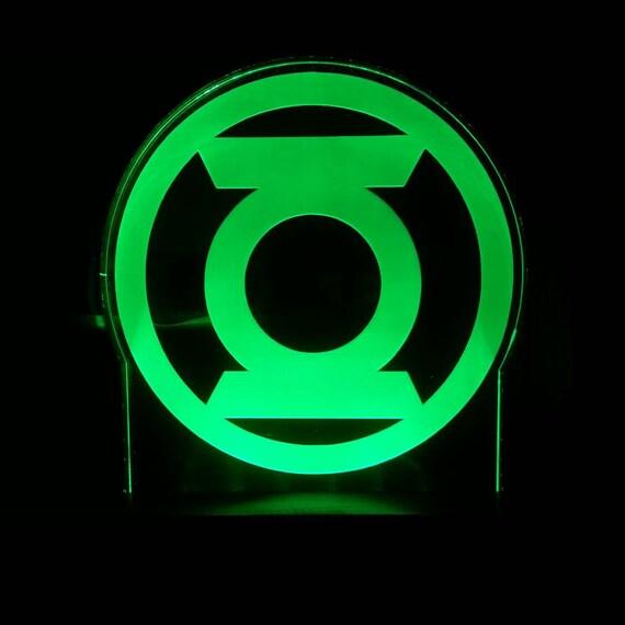 The Green Lantern Superhero Acrylic Led Light Sign Led Etsy