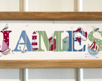 Seaside / Nautical Bedroom Door Sign