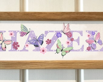 Butterfly Bedroom Door Sign