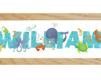 Sea Life Bedroom Door Sign