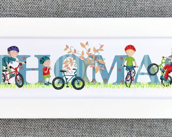 Bicycle Bedroom Door Sign