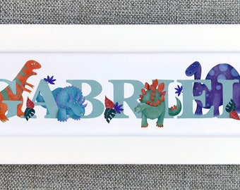 Dinosaur Bedroom Door Sign