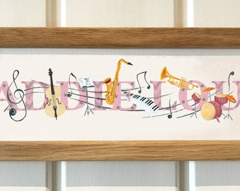 Musical Instruments Bedroom Door Sign