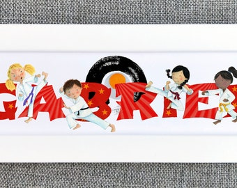 Karate Bedroom Door Sign