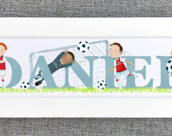 Football Bedroom Door Sign - (can be personalised to favourite team)