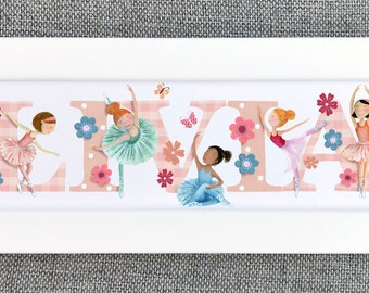 Ballet Bedroom Door Sign