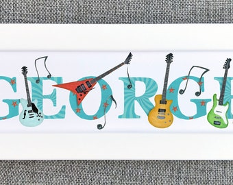 Guitar Bedroom Door Sign