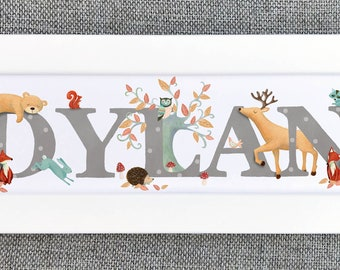 Woodland Bedroom Door Sign