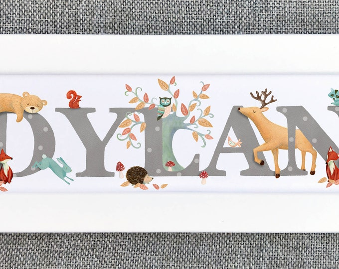 Featured listing image: Woodland Bedroom Door Sign
