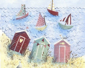 Beach Huts - Original artwork