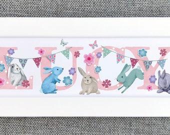 Bunny Rabbit Bedroom Door Sign