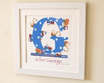 Digger Letter Art Print