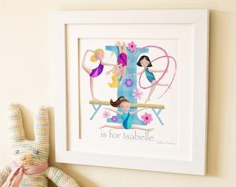 Gymnastics Letter Art Print