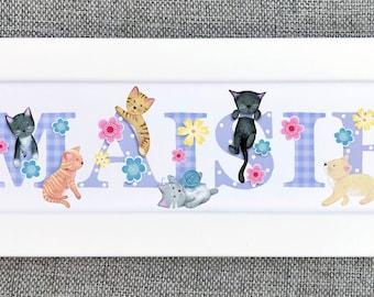 Kitten / Cat Bedroom Door Sign