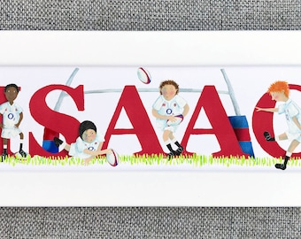 Rugby Bedroom Door Sign - (kit can be changed to a favourite team / club)