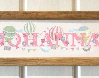 Hot Air Balloon Bedroom Door Sign