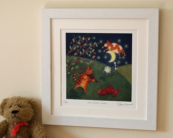 Hey Diddle Diddle - Unframed limited edition children's print