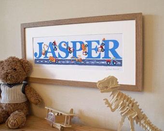 Digger Illustrated Name Print