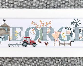 Farmyard Bedroom Door Plaque