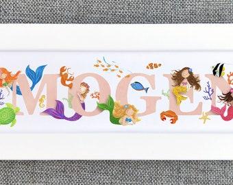 Mermaid Bedroom Door Sign