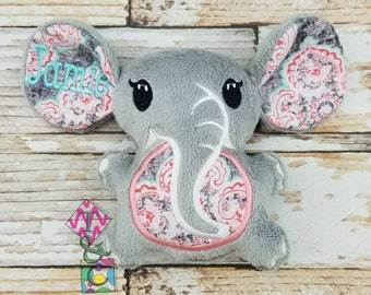 Personalized Elephant Stuffed Animal - Elephant Toy - Baby Shower - Elephant with Name - Soft Elephant - Stuffie - Baby Shower