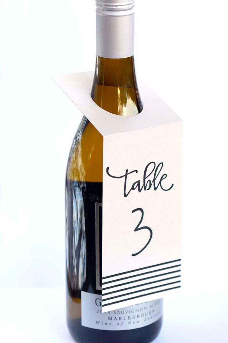 Wine Tag Table Numbers Wine Table Numbers Table Numbers Table Decor Modern Stripes Table Numbers Chic Table Numbers Table Number Signs