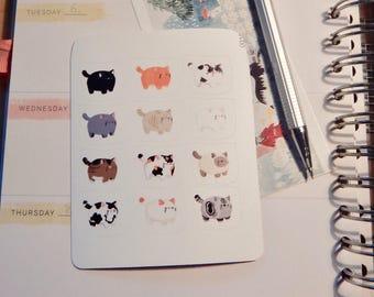 Types of cat tiny sticker sheet