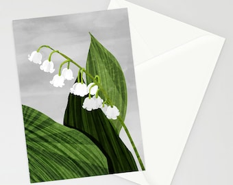 Lily Of The valley Blank A6 Greetings Card