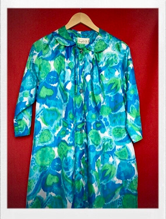 Vintage Women's 1960's Printed Overcoat