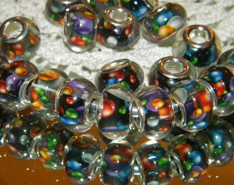 Hair Jewel 12 Cuff - Choose your color! 11-12mm hole fits Glass Dreadlock Bead with Galaxy Blubs Large Tube Beads