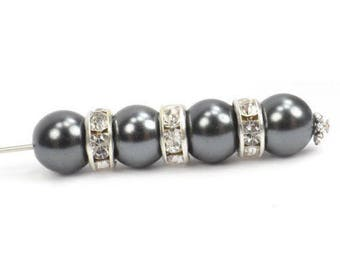 NEW 50 Pcs SPACERS Clear Crystal Jewelry Design 8mm Making Silver toned   Rondelle  Crystal Spacer Beads 0d4fbd774a15