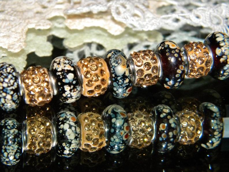 20 Pc Lot-SINGLE CORE EUROPEAN MURANO STYLE GLASS BEADS-Mixed Selection-Blue