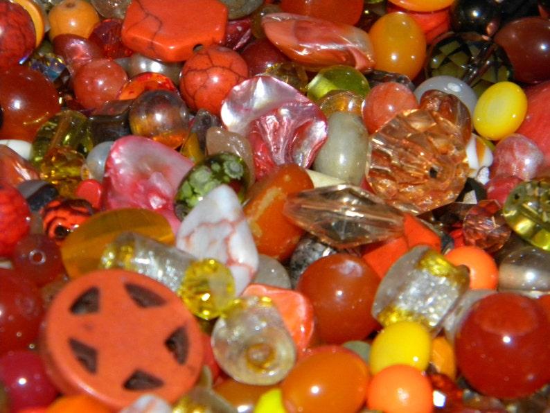 New 1 POUND per lot of 6mm-20mm Orange peach /& Yellow Sunshine Mixed Loose lot of Beads Random Glass beads lot NO JUNK