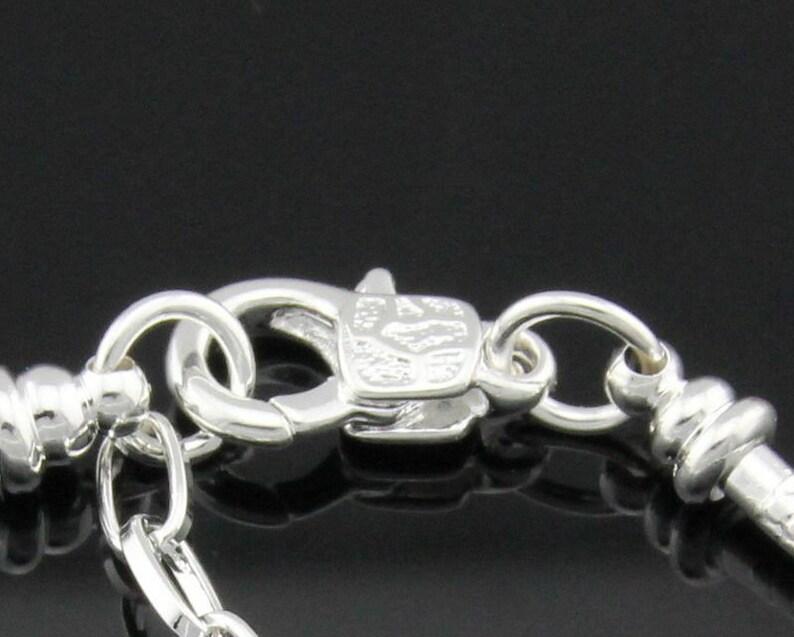 BLP New 9pc PurpleBlack FANCY Lampwork ALE925 Sterling silver core beads /& snake chain Bracelet Large hole European bracelet charm Lot