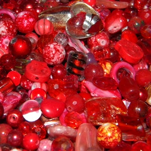 Pearls Gemstone NEW 6//oz PINK //Burgundy MIX 6-15mm LOOSE Beads Lot Glass