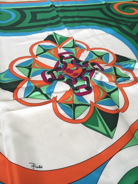 Emilio Pucci Scarf Geometric psychedelic printed i