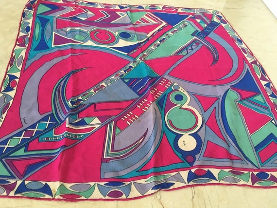 Vintage Pucci Scarf iconic 60s Psychedelic Pucci P