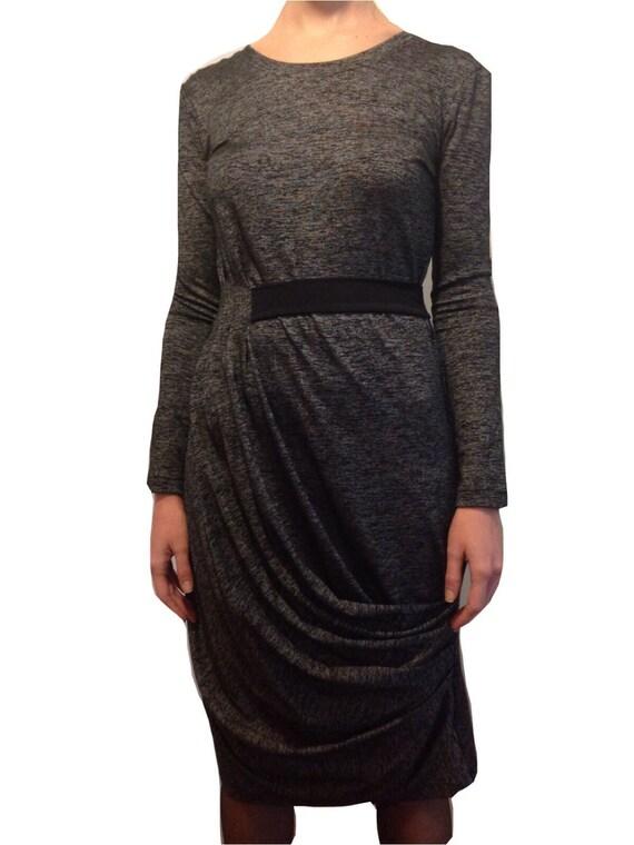 Winter dress   Kleid   grau Abendkleid Langarm   Chic kleiden   Etsy ae3b097a56