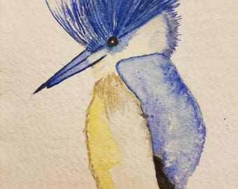 Fancy Bird Watercolor Painting - Wildlife Painting