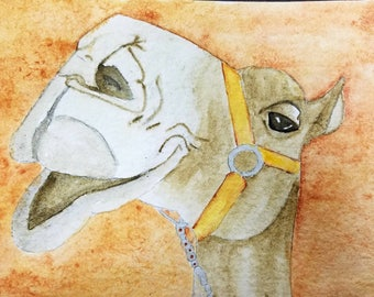 Camel watercolor painting