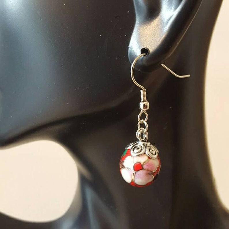 Cherry blossom dangle earrings image 0