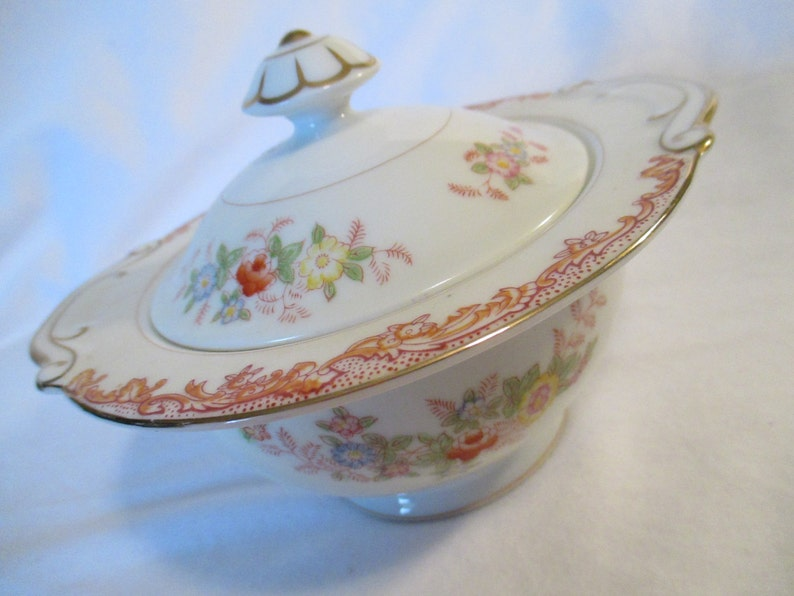 Vintage Laurel China Sugar and Creamer Set Wedding Tea Party Lucheon Showers