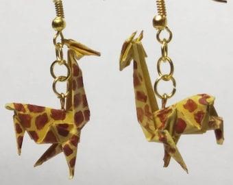Origami Giraffe Earrings