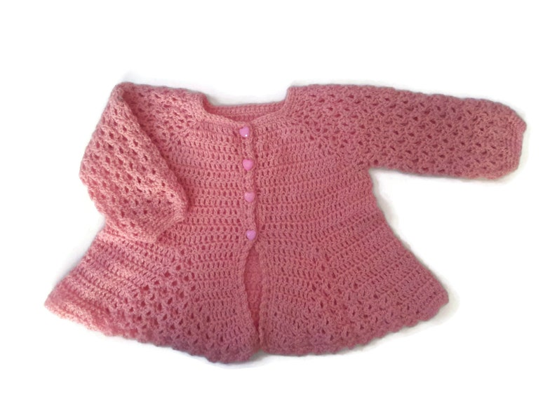 1daca22a6 Baby girl sweater fine lambs wool baby cardigan pink baby