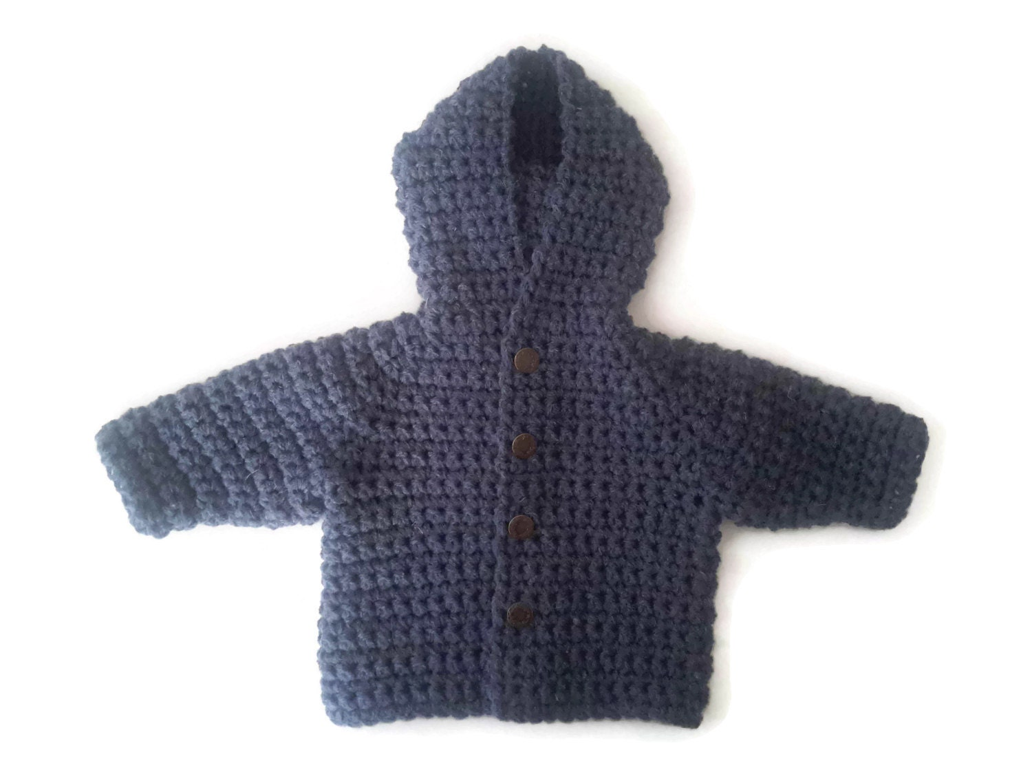 chunky wolle jungen kapuzen mantel baby hoodie baby etsy. Black Bedroom Furniture Sets. Home Design Ideas
