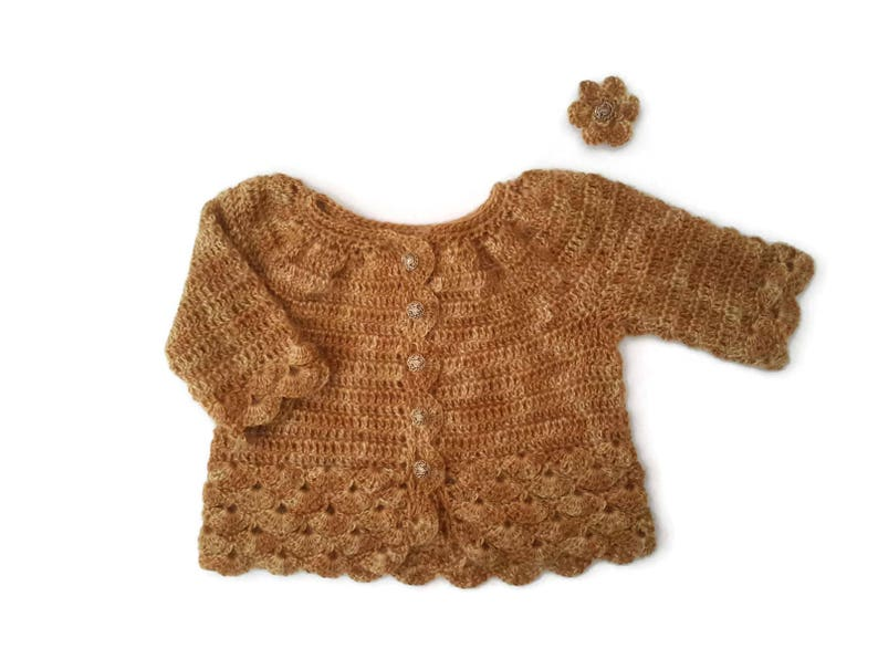 1c95d705c9e6 Fine mohair mix baby sweater gold yellow baby girl cardigan