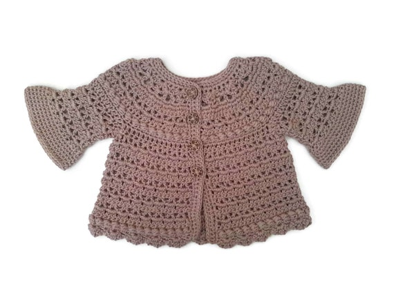 2c2725cd7f2a Eco bamboo mix baby sweater camel beige baby girl cardigan