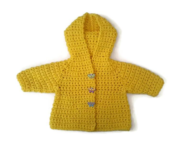 85288c461fa3 Baby girl sweater yellow baby sweater merino wool baby