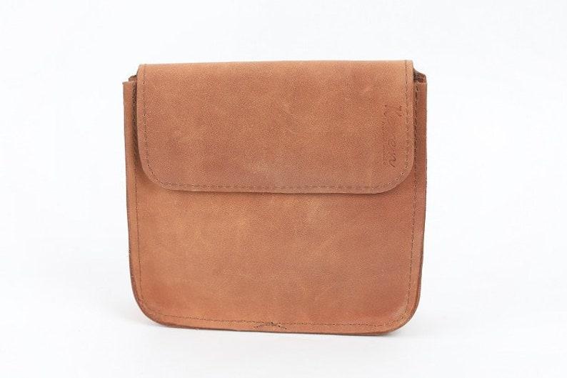 c42059ea7f Handmade light brown  camel Leather belt pouch For men
