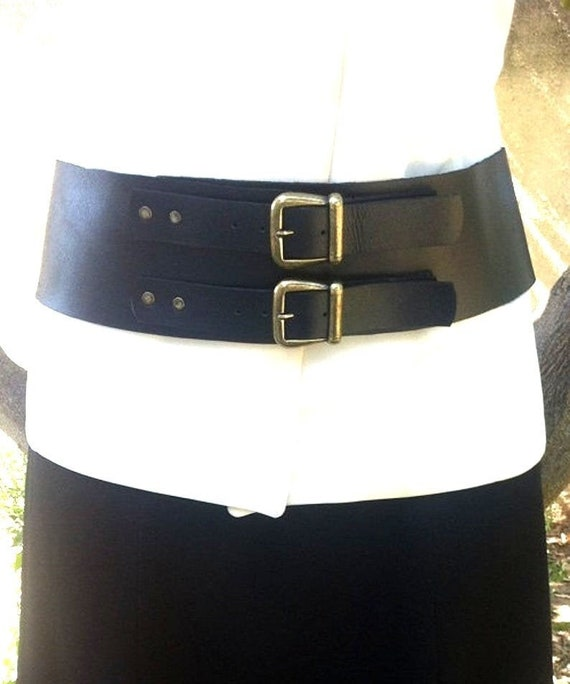 Damen Hüftgürtel PU-Leder Lila XL breit silberne Schnalle